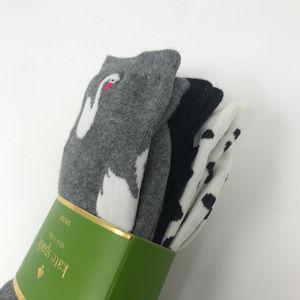 kate spade Accessories - Kate Spade 3 Pack Swan Socks